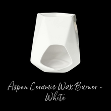 Load image into Gallery viewer, Aspen Ceramic Wax Burner - White