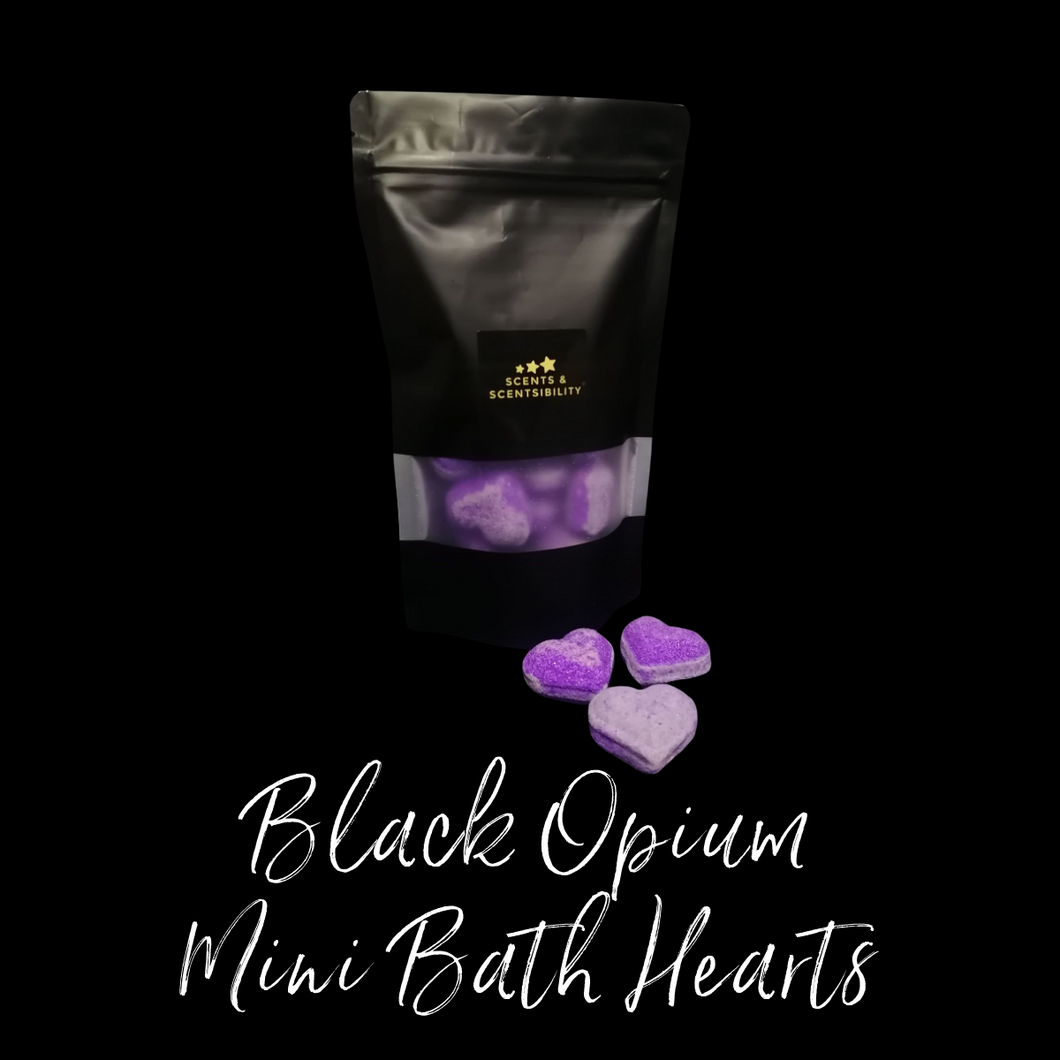 Black Opium Mini Bath Hearts