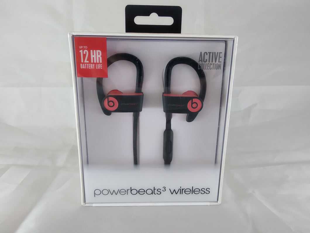 NEW Beats by Dr. Dre Powerbeats 3 Wireless Bluetooth Earphones - Siren Red