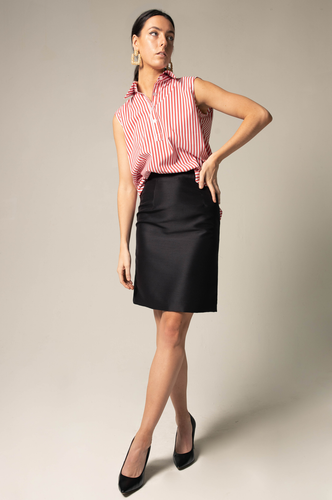 Straight Skirt - black - Le Réussi