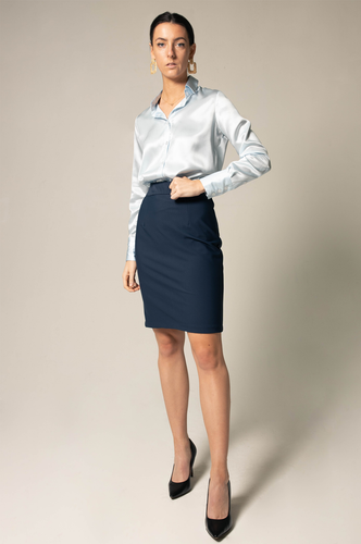 Straight Skirt - Navy - Le Réussi