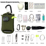 29 in 1 SOS Emergency Equipment bag field survival box self-help for Camping Hiking saw/fire - Peak Gear Co