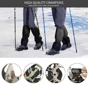 19 Spikes Stainless Steel Anti-Slip Ice Snow Grips for Shoes Cleats - Peak Gear Co