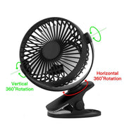 3 Speed Adjustable Fans for Tent or Camping - Peak Gear Co