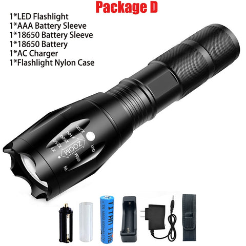 T20 Q250 Led Flashlight Ultra Bright - Peak Gear Co