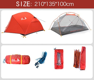 2-Person Double Layer Waterproof Tent - Peak Gear Co