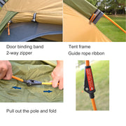 3-4 Person Dome Automatic Tent - Peak Gear Co