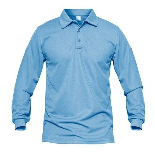 Men's Quick Dry Performance Long Sleeve Polo Shirt - Peak Gear Co