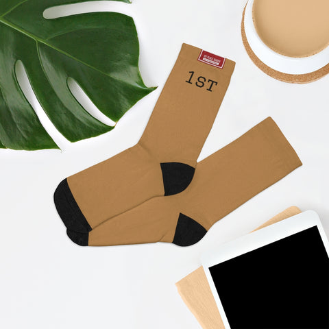 1st Socks with Logo (Bronze)