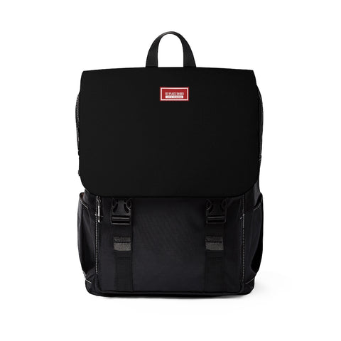 Unisex Casual Shoulder Backpack (Black)