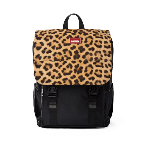 Unisex Casual Shoulder Backpack (Leopard)