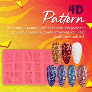 4D Sculpture Nail Art Molds