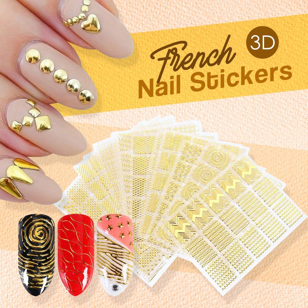 French 3D Nail Sticker