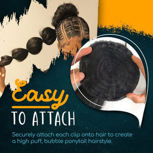 Kinky Straight Bubble Ponytail Extension