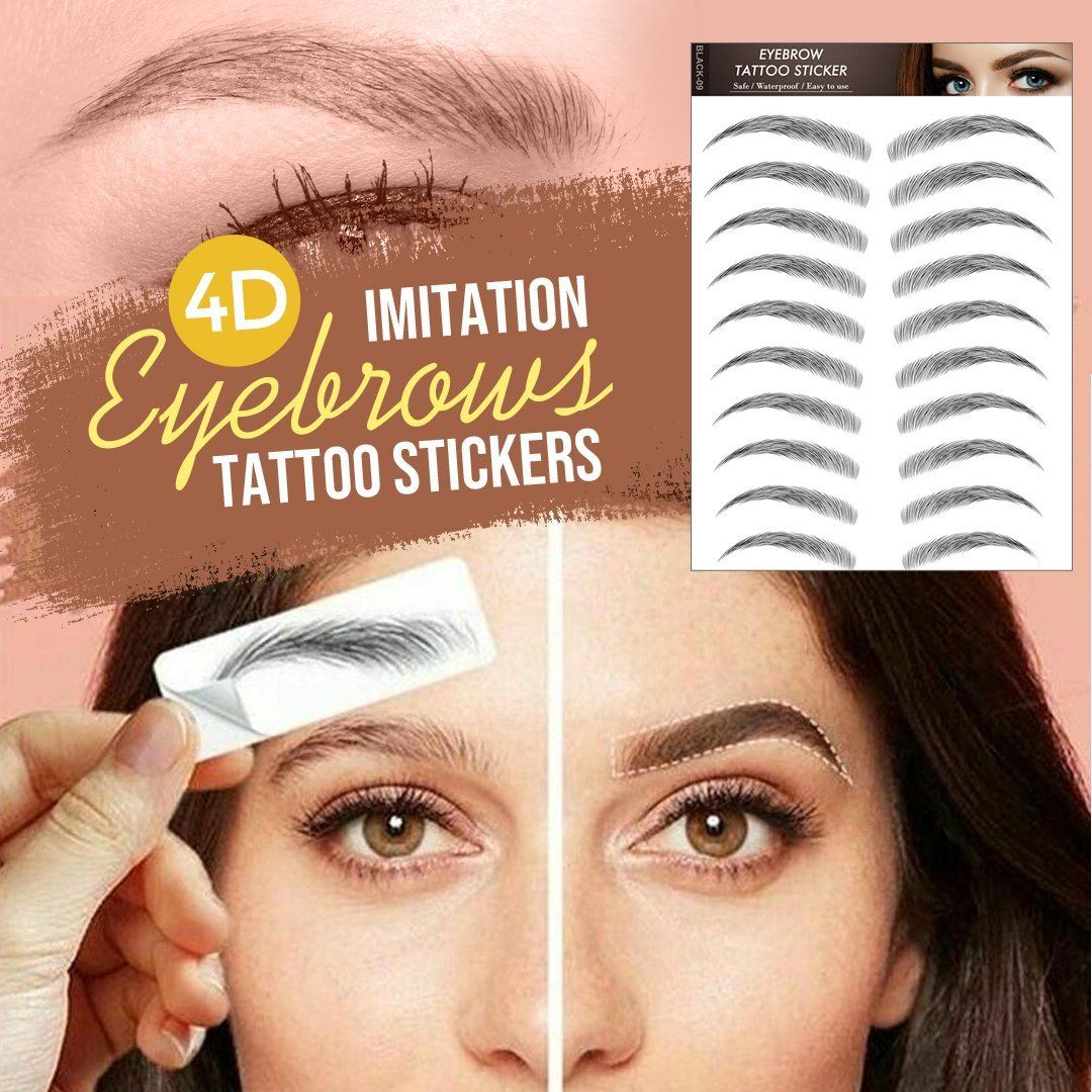 4D Imitation Eyebrow Tattoo Stickers