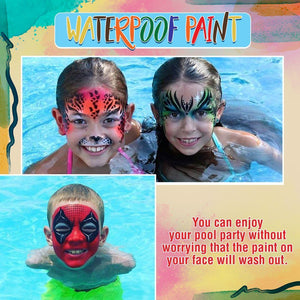 12 Colors Waterproof Face & Body Oil Paints