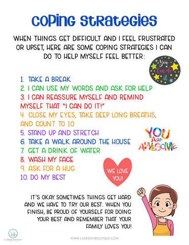 Coping Strategies List