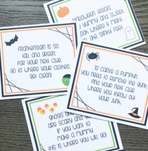 Load image into Gallery viewer, Halloween Scavenger Hunt Clue Cards Printable