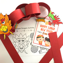 Load image into Gallery viewer, Lunar New Year Activity Sheets for Kids with DIY Paper Dragon