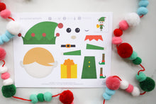 Load image into Gallery viewer, Christmas Cutout Activities for Kids with Santa, Elf, Snowman, and Reindeer