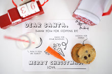 Load image into Gallery viewer, Dear Santa Placemat Tray for Milk and Cookies and Carrots