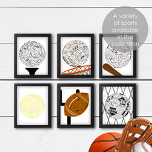 Load image into Gallery viewer, sports wall art golf basketball baseball tennis football soccer