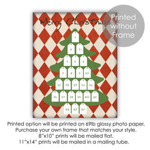 Load image into Gallery viewer, Christmas Tree Advent Calendar Countdown Dry Erase Framed Wall Art