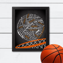 Load image into Gallery viewer, framed basketball art with personalization
