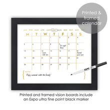 Load image into Gallery viewer, Modern Gold Monthly Calendar Wall Art for Office Decor