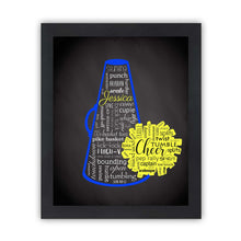 Load image into Gallery viewer, Personalized Cheerleading Team Gifts with Names on Art Print