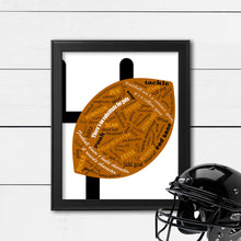 Load image into Gallery viewer, custom football art for team gift