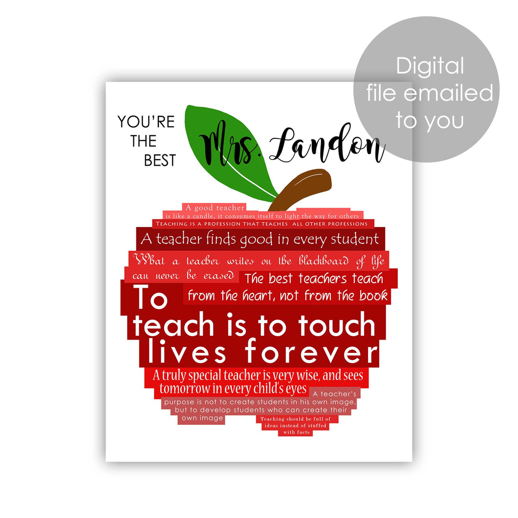 graphic design apple for teacher