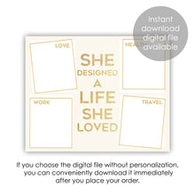 Load image into Gallery viewer, gold vision board printable