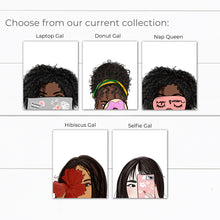 Load image into Gallery viewer, Strong Black Woman Art with Computer Laptop Illustration