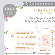 Load image into Gallery viewer, Custom Designed Wedding Seating Chart Template with Floor Plan