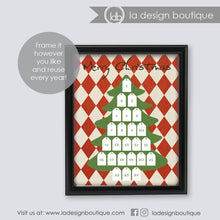 Load image into Gallery viewer, dry erase advent calendar wall art