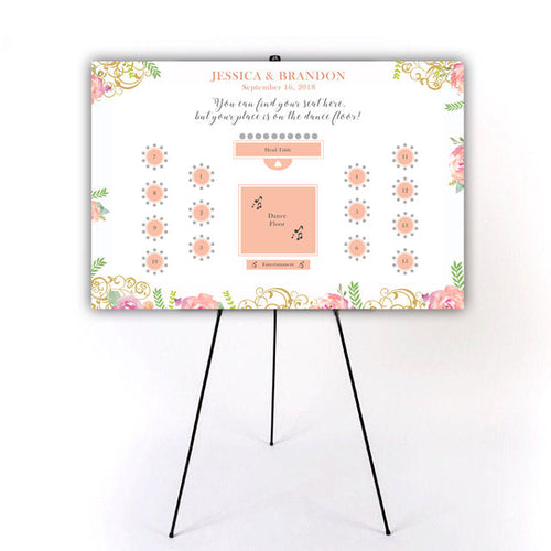 custom wedding seating chart