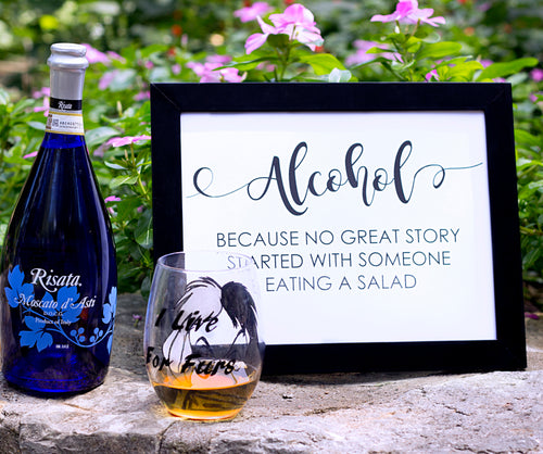 alcohol sign for wedding
