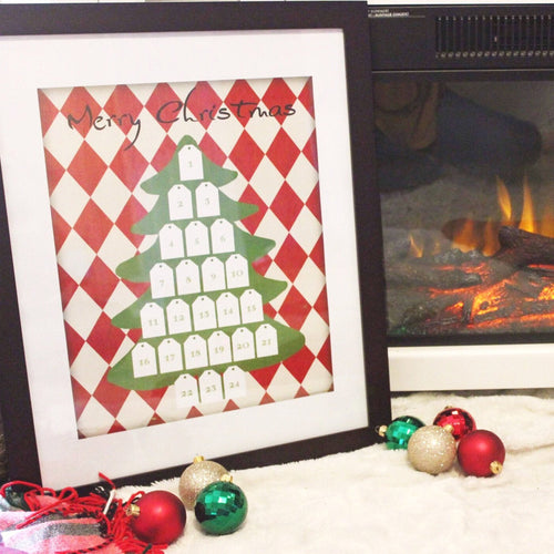 framed advent calendar countdown