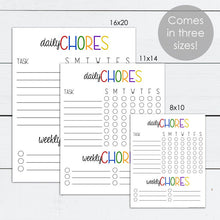 Load image into Gallery viewer, chore chart template and printable