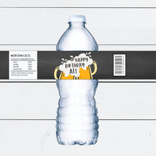 Load image into Gallery viewer, Cheers and Beers Birthday Party Custom Water Bottle Labels
