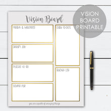 Load image into Gallery viewer, vision board printable