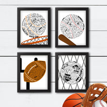 Load image into Gallery viewer, sports bedroom wall art