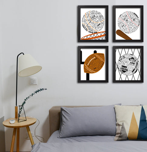sports wall decor printable
