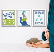 Load image into Gallery viewer, dinosaur themed bedroom decor