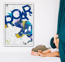 Load image into Gallery viewer, Trex art print for boys bedroom