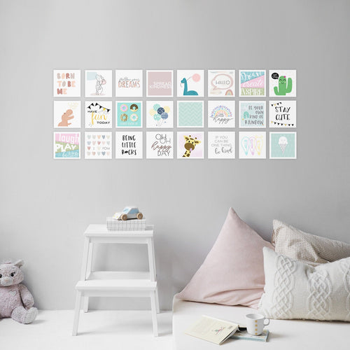 nursery wall art collage gender neutral