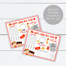 Load image into Gallery viewer, Lunar New Year Kids Placemat Activities