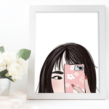 Load image into Gallery viewer, asian girl art illustration