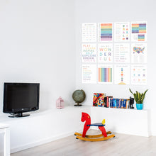 Load image into Gallery viewer, Homeschool Posters, Playroom Rules, Educational Prints, Preschool Signs, Classroom Signs, US Map, Alphabet, Solar System, Math, Numbers